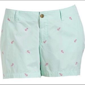 Old Navy Mint Anchor Shorts